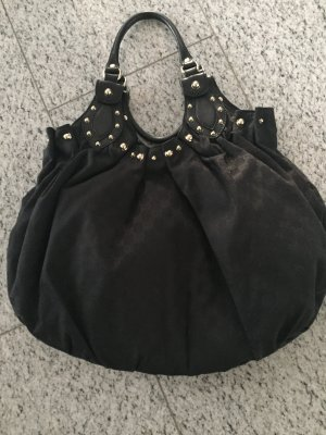 Gucci Tasche Stoff/Leder schwarz