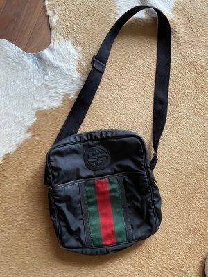 Gucci Tasche Umhängetasche schwarz rot grün gestreift Top Zustand