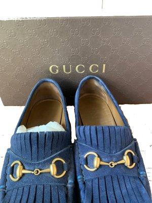 Gucci Zapatos sin cordones azul oscuro-azul