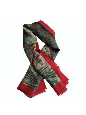 Gucci Zijden sjaal rood-groen