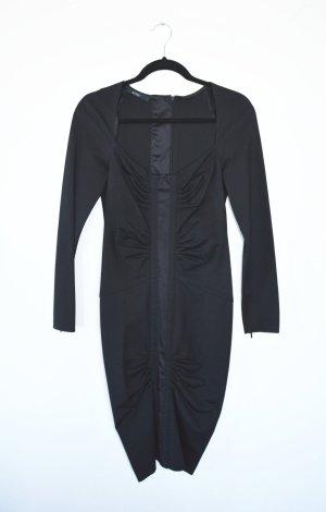 Gucci Robe stretch noir tissu mixte