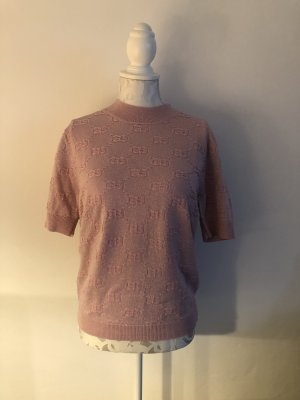 Gucci Short Sleeve Sweater pink