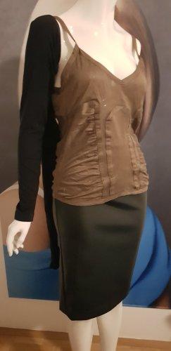 Gucci Canotta a bretelle bronzo-marrone-grigio