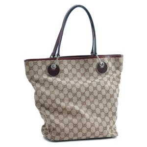 Gucci Tote brown textile fiber