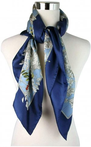 Gucci Bufanda de seda blanco-azul