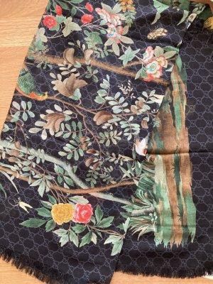 Gucci Écharpe en soie vert