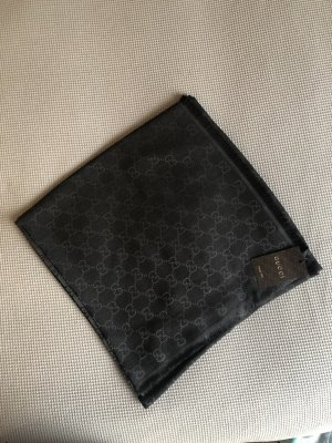 Gucci Écharpe en soie gris anthracite-gris soie
