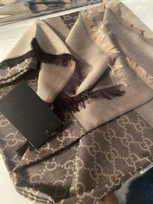 Gucci Zijden sjaal bruin-beige