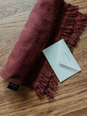 Gucci Woolen Scarf bordeaux wool