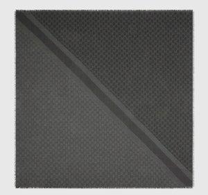 Gucci Bufanda de seda gris antracita-gris oscuro