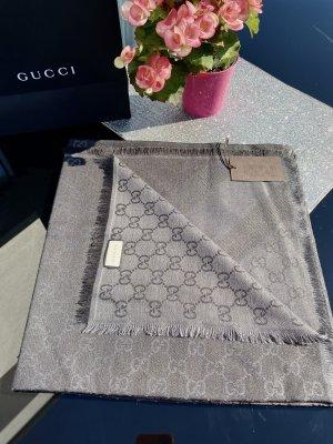 Gucci Wełniany szalik antracyt-ciemnoszary