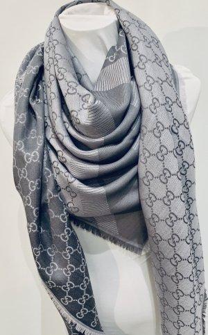 Gucci Wełniany szalik szary-jasnoszary
