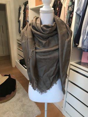 Gucci Sciarpa di seta beige-marrone-grigio