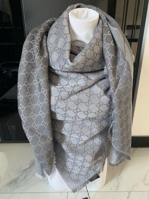 Gucci Wollen sjaal grijs-lichtgrijs