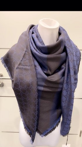 Gucci Woolen Scarf dark blue-anthracite