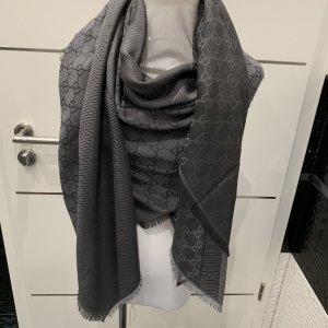 Gucci Sciarpa di lana antracite-grigio