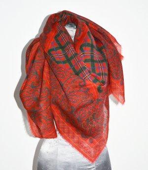 Gucci Tuch Shawl Scarf XL Seide Wolle 135 x 135 Topzustand