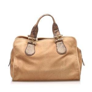 Gucci Twice Nubuck Leather Handbag