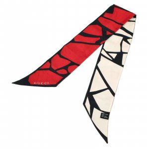 Gucci Gebreide sjaal zwart Zijde