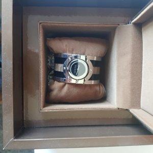 Gucci Fibbia orologio argento-antracite