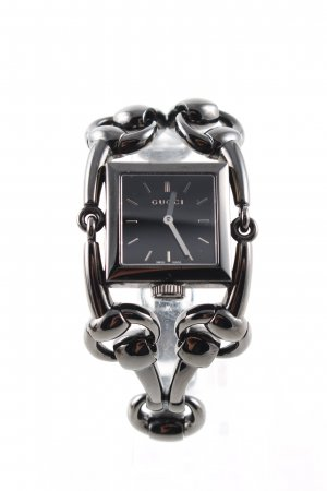 Gucci Watch With Metal Strap black casual look