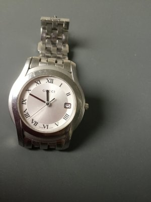 Gucci Watch With Metal Strap light grey-silver-colored