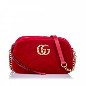 Gucci Velour Marmont Crossbody Bag