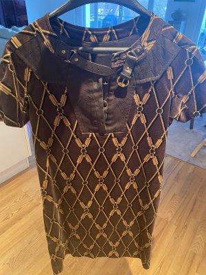 Gucci Robe à manches courtes brun foncé