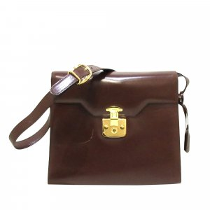 Gucci Vintage Lady Lock Leather Crossbody