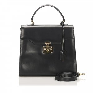 Gucci Vintage Lady Lock Leather Satchel