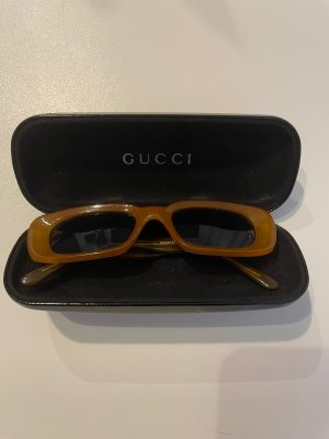 Gucci Retro Glasses cognac-coloured