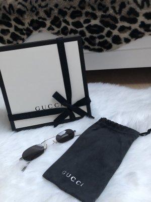 Gucci Occhiale stile retro argento-grigio