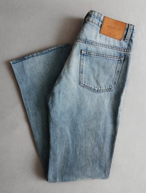 Gucci Vintage Style Jeans Hellblau Gr. 26