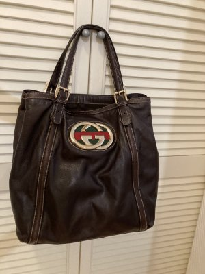 Gucci Sac Baril multicolore cuir