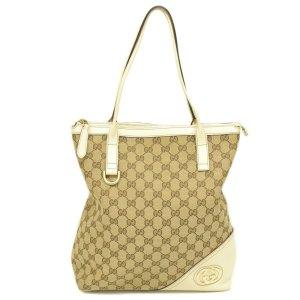 Gucci Schoudertas beige Textielvezel
