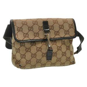 Gucci Handbag beige textile fiber