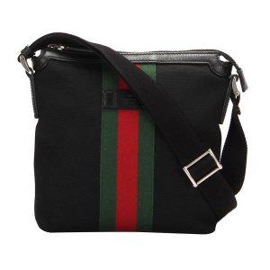 Gucci Web Canvas Crossbody Bag