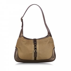 Gucci Web Canvas Jackie Shoulder Bag