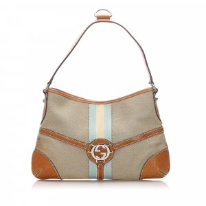 Gucci Web Canvas Reins Hobo