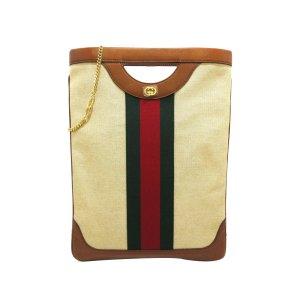 Gucci Web Canvas Tote Bag