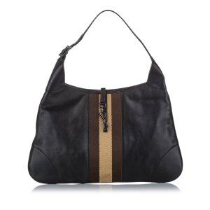 Gucci Web Jackie Leather Hobo Bag