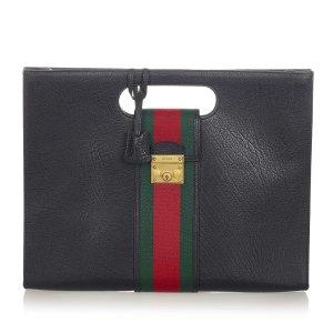 Gucci Web Padlock Leather Handbag