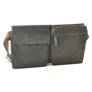 Gucci Web Sherry Line Waist Bag Pouch