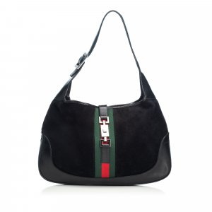 Gucci Web Suede Jackie Shoulder Bag