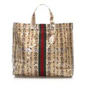Gucci Web Vinyl Tote Bag