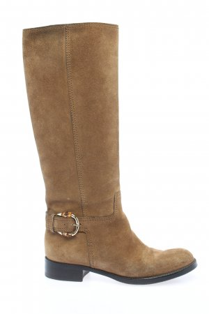 Gucci Wide Calf Boots brown casual look