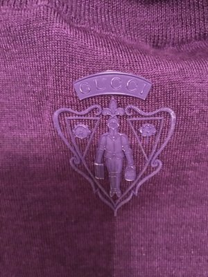 Gucci Cárdigan largo lila
