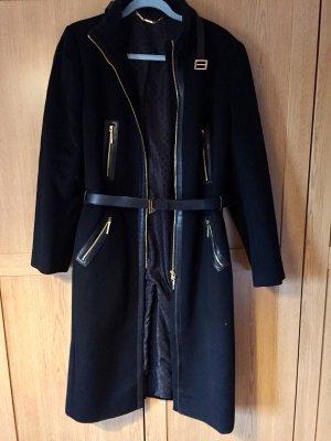 Gucci Abrigo de lana negro-color oro