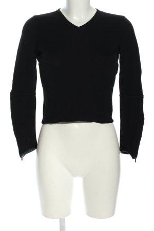 Gucci Jersey de lana negro look casual