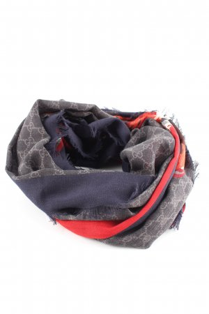 Gucci Woolen Scarf themed print casual look